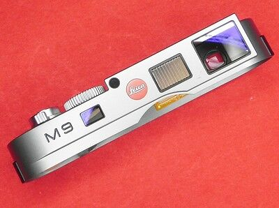 Leica M9 Steel Grey Top Cover complete with all parts inside  #1 ........ Minty