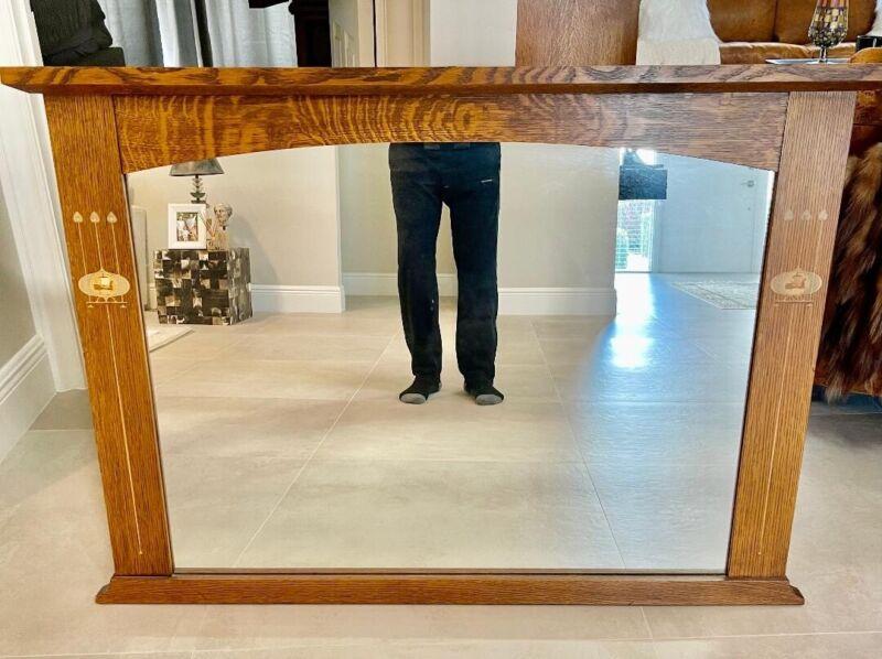 Stickley Mission Oak Wall Mirror Harvey Ellis