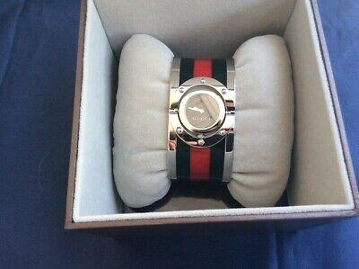 Gucci Twirl Bangle Watch Stainless Steel Model: YA112417 NWT