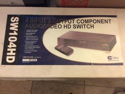 - New!  Ce Labs SW104HD Component Video Audio Muiltport Switch 4 Input/2 Output