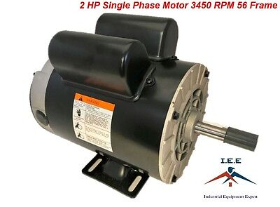 2 Hp Spl Compressor Duty Electric Motor 3450 Rpm 56 Frame 58 Shaft 120240 V
