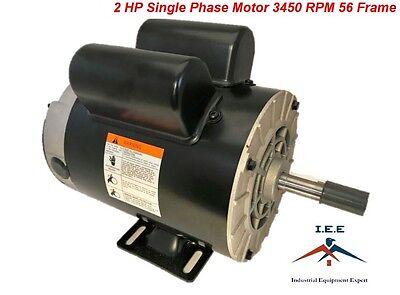 2 Hp Spl 3450 Rpm 56 Frame 120240v 157.5amp 58 Shaft Single Phase Nema Motor