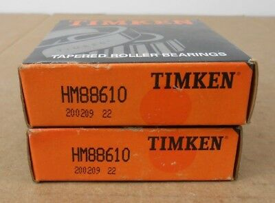 Lot 2 Nib Timken Hm88610 Tapered Roller Bearing Cup 2.8438 X 0.7812 2 Avail