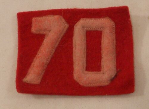 Vintage Boy Scout Patch - Felt Troop Number 70 Red and White