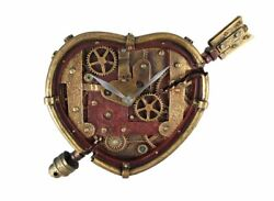 Industrial Steampunk Clockwork Wall Clock Heart Shaped Home Decor Goth Victorian