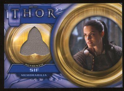 UD Thor Movie Memorabilia Costume/Relic Card Marvel F6 - SIF - Sif Costume