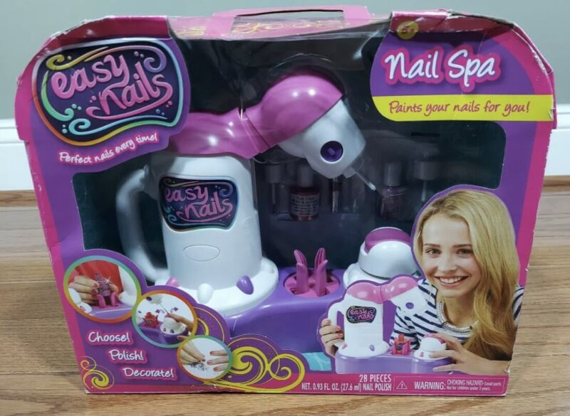 Easy Nail Spa Kit For Kids Rare - Paints Your Nails For You - Polish & Decorate