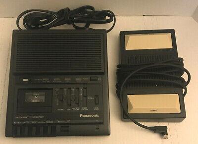 Panasonic Rr-930 Micro Cassette Dictation Transcriber Foot Pedal Legal Court