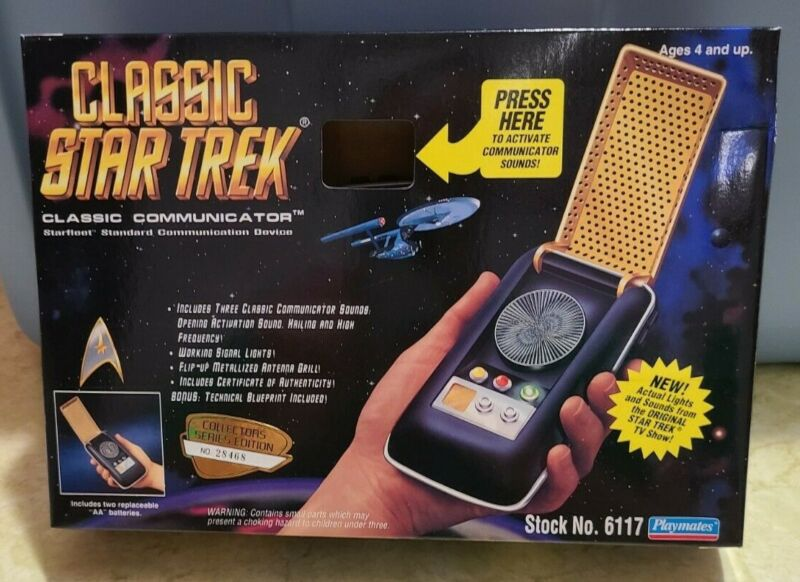 Vintage 1994 Playmates Classic Star Trek Classic Communicator 6117 New In Box