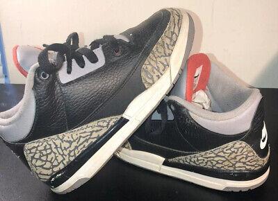 Nike Air Jordan 3 Retro Black Cement PS Kids Shoes Size 2Y