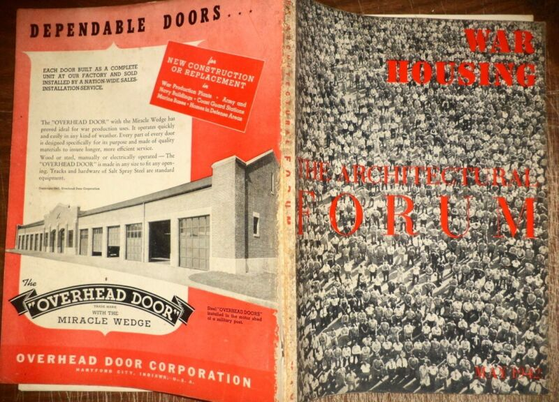 VINTAGE MAY 1942 ARCHITECTURAL FORUM WWII HOUSE BUILDINGS MODERN DESIGNS HISTORY