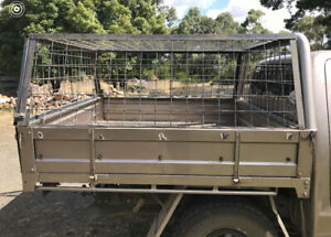 Ute steel cage and canvas canopy (Tray not included)