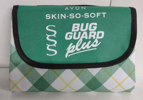 "Avon Skin so soft bug guard picnic blanket 52"" X 32"" NIP"