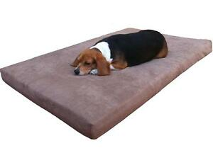 EXTRA-LARGE-45-X27-X3-MEMORY-FOAM-Pad-Pet-Dog-Bed-Waterproof-MicroSuede-CASE-XL