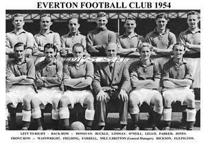 EVERTON-F-C-TEAM-PRINT-1954-WAINWRIGHT-EGLINGTON-FIELDING