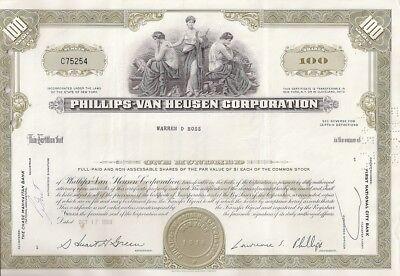 Phillips Van Heusen Corporation    1970 Stock Certificate