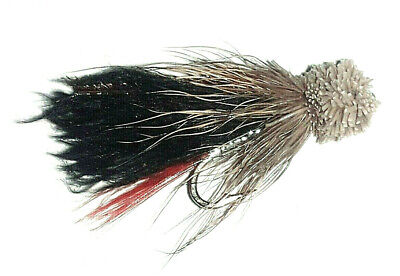 code 034a Trout Flies Mini Muddlers Wake Flies size 10 x 10