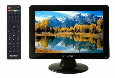 Milanix 12 Inch LED Small Kitchen TV with HDMI, VGA, Built in Digital Tuner, AC Vga Tv Tuner