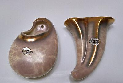 Jasba Keramik Jasbatina Wandvase 2 Stück 50er  Mid Century