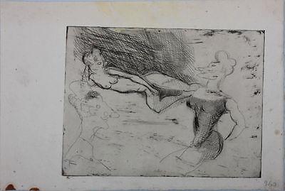 Edouard Goerg (1893-1969) - Akt  Original-Radierung, um 1925