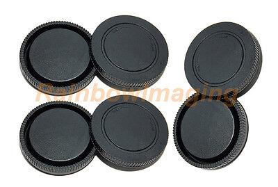 Lens Rear Caps and Body Cap for Sony NEX-5R NEX-5T a6000 a5100 a5000 a7 x 3 pcs