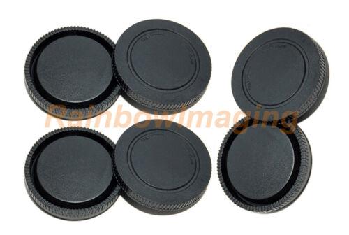 3 Packs Lens Rear Cover Protective Cap Camera Body Sensor Caps for Sony E Mount
