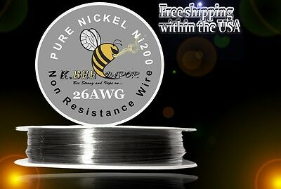 Ni200 - 100 Ft 26 Gauge Awg Pure Nickel 200 Non Resistance Wire 0.40mm 26g 100