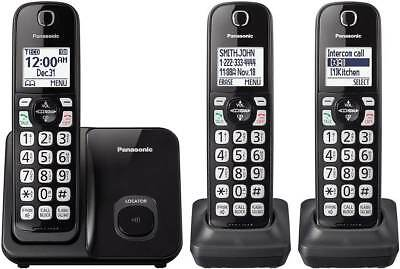Panasonic DECT 6.0 Expandable Cordless Phone w/ Call Block and 3 Handsets