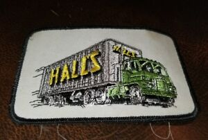 New Old Stock 1970s Trucker Hall's Motor Transit truck driver patch 3 X 4-5/8