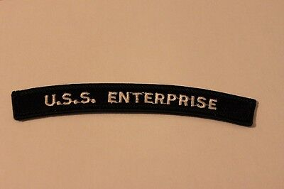 USS ENTERPRISE CVN-65 Shoulder Arm Rocker patch- UNUSED