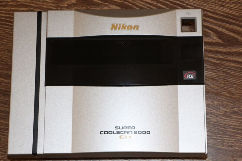 NIKON COOLSCAN 8000 ED Slide & Film scanner face plate