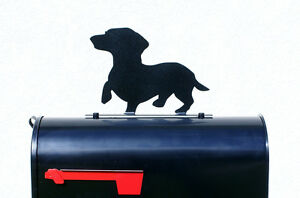 Dachshund Dog Silhouette Mailbox Topper / Sign - Powder Coated Steel - US Made