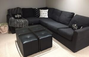 Sectional sofa couch , pull out mattress bed
