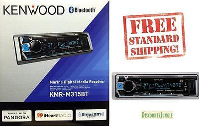 Kenwood KMR-M315BT Marine MP3/WMA Digital Media Player Bluetooth Front USB AUX