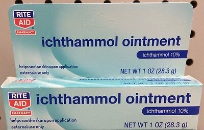 Ichthammol Ointment 10% Drawing Salve 1oz Tube -FREE WORLDWIDE SHIPPING-