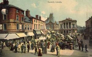 Cornhill-Market-Lincoln-unused-old-postcard-Boots-Good-condition
