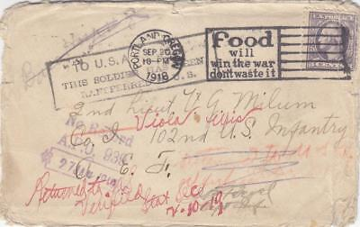 1918, AEF: Well Traveled Cover, See Remark (M1554)