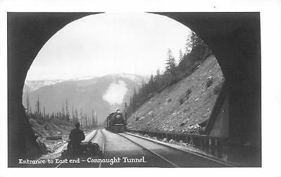 CONNAUGHT TUNNEL Canadian Pacific Railway BC Canada Railroad RPPC Postcard 1940s ()