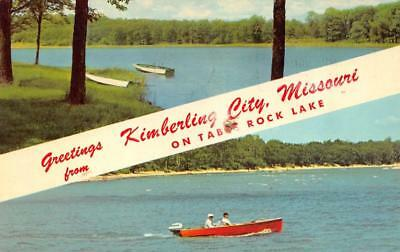MO, Missouri KIMBERLING CITY Greetings TABLE ROCK LAKE Boating  Chrome Postcard for sale  Shipping to Canada