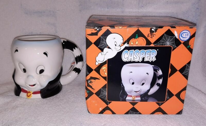 Casper The Friendly Ghost Dracula Halloween Coffee Mug 2005 Collectible Coyne