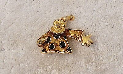 CLASSIC PIN BROOCH HAPPY CLOWN CIRCUS COSTUME FUN PARTY FACE PAINT HAIR SHO - Costume Sho