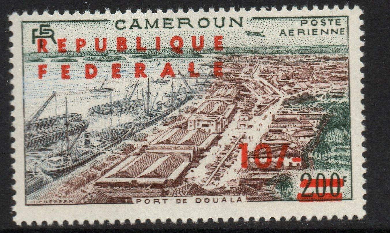CAMEROUN SG296a 1961 10/= ON 200f STERLING CURRENCY OVPT MNH