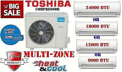 36000 Btu Dual Tri Quad Zone Mini Split Air Conditioner Heat Pump 21.4 Seer
