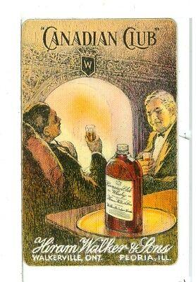 Single Vintage Playing Card, Hiram Walker & Sons