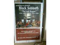 Framed Black Sabbath Picture