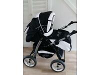 Black&White Baby merc pushchair stroller buggy 3 in 1