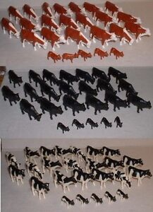 1-64-ERTL-LOT-of-75-ERTL-HOLSTEIN-ANGUS-HEREFORD-Cows-Calfs-Cattle-NIP