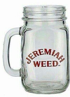 2 x Jeremiah Weed 16oz Mason Glasses New