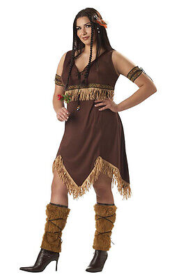 Indian Princess Pocahontas Adult Women Plus Size Costume - Plus Size Pocahontas Costume