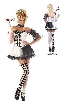 Le Belle Harlequin Mari Gras Masquerade Costume (Mardi Gras Harlequin Costume)